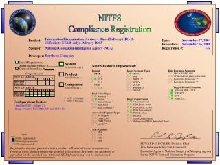 NITFS Compliance Registration