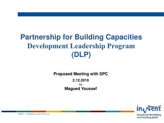 Partnership for Building Capacities Development Leadership Program (DLP)