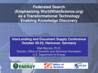 InterLending and Document Supply Conference October 20-22, Hannover, Germany