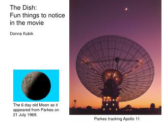 The Dish: Fun things to notice  in the movie