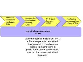Ideazione, produzione, montaggio, iDRM