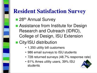 Resident Satisfaction Survey