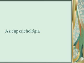 Az énpszichológia