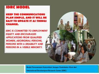 Model  Perencanaan Komunikasi dengan Pendekatan Riset dari