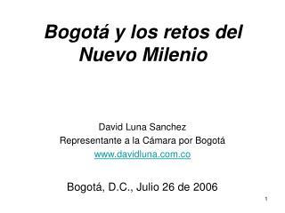Bogotá y los retos del Nuevo Milenio