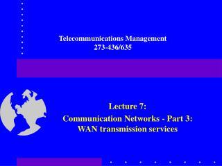 Telecommunications Management 273-436/635