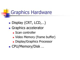 Graphics Hardware