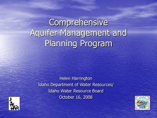Comprehensive  Aquifer Management and Planning Program