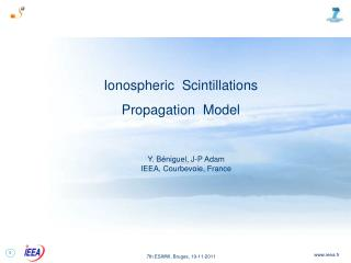 Ionospheric  Scintillations Propagation  Model