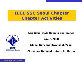 IEEE SSC Seoul Chapter Chapter Activities