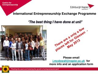 International Entrepreneurship Exchange Programme
