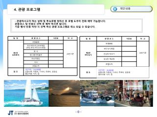 4.  관광 프로그램