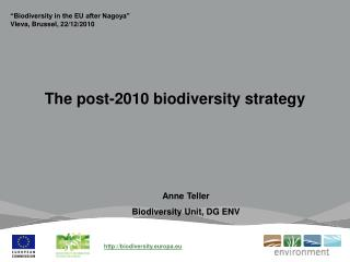 The post-2010 biodiversity strategy