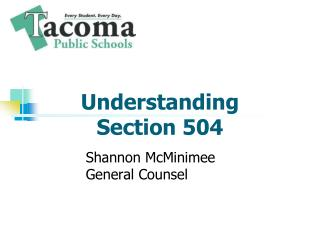 Understanding  Section 504