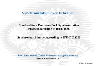 Synchronization over Ethernet