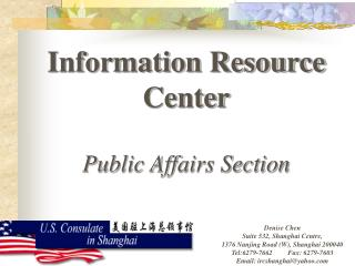 Information Resource Center Public Affairs Section