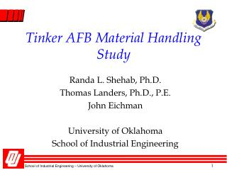 Tinker AFB Material Handling Study