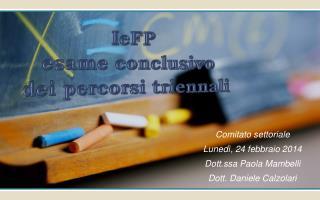 IeFP esame conclusivo  dei percorsi triennali