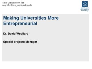 Making Universities More Entrepreneurial