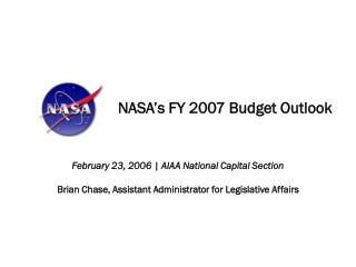 NASA's FY 2007 Budget Outlook