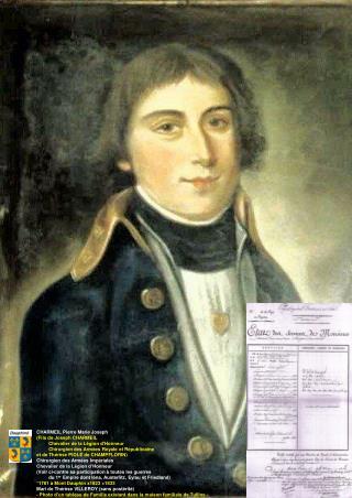 CHARMEIL Pierre Marie Joseph (Fils de Joseph CHARMEIL           Chevalier de la Légion d'Honneur