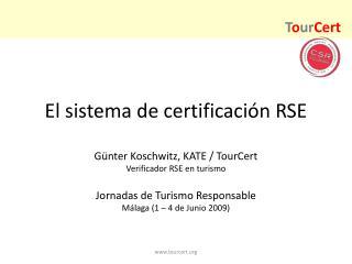 El sistema de certificación RSE