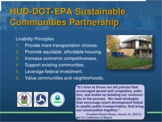HUD-DOT-EPA Sustainable Communities Partnership