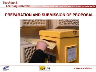 PREPARATION AND SUBMISSION OF PROPOSAL