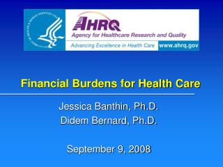 Financial Burdens for Health Care