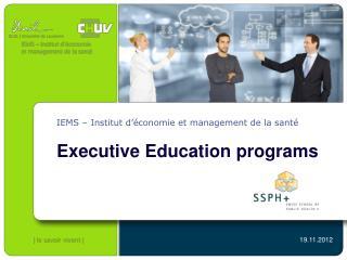 IEMS – Institut d'économie et management de la santé