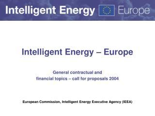 Intelligent Energy � Europe