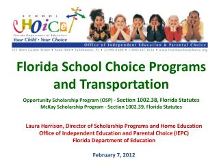 Florida School Choice Programs and Transportation