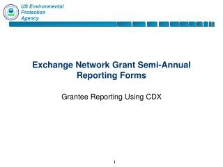 Exchange Network Grant Semi-Annual Reporting Forms