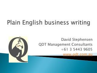 Plain English business writing