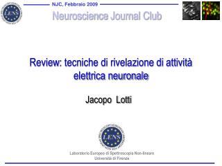 Review : tecniche di rivelazione di attività elettrica neuronale