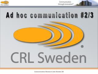 Ad hoc communication #2/3