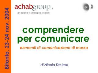 elementi di comunicazione di massa