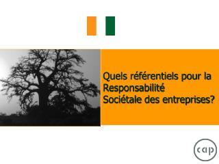 Quels référentiels pour la Responsabilité Sociétaledes entreprises?