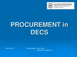 PROCUREMENT in DECS
