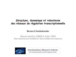 Structure, dynamique et robustesse des réseaux de régulation transcriptionnelle