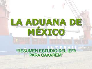 LA ADUANA DE MÉXICO