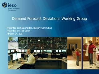 Demand Forecast Deviations Working Group