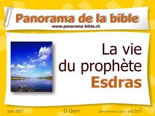 La vie  du proph te  Esdras