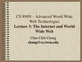 Chin-Chih Chang chang@cs.twsu