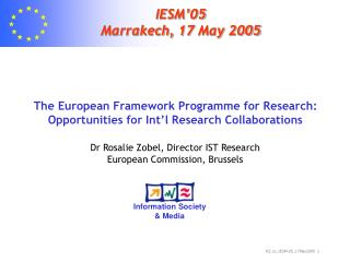 IESM'05 Marrakech, 17 May 2005