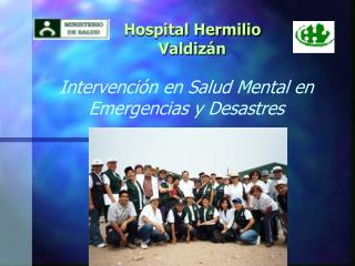 Intervención en Salud Mental en Emergencias y Desastres