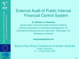 External Audit of Public Internal Financial Control System Dr. Mohsen A. Shawarby