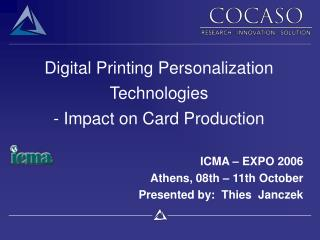 Digital Printing Personalization Technologies - Impact on Card Production