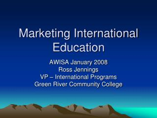 Marketing International Education