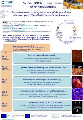 ACTION_TD1002 13/12/2010 – 12/12/2014 AFM4NanoMed&Bio